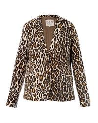 Blazer imprimé léopard marron clair
