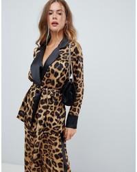 Blazer imprimé léopard marron clair Missguided