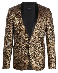 Blazer imprimé léopard marron DSQUARED2