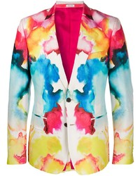 Blazer imprimé multicolore Alexander McQueen