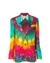 Blazer imprimé tie-dye multicolore R13