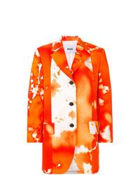 Blazer imprimé tie-dye orange MSGM