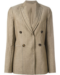 Blazer marron clair Brunello Cucinelli