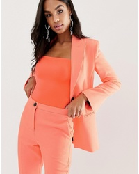 Blazer orange ASOS DESIGN