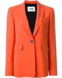 Blazer orange MSGM
