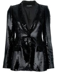 Blazer pailleté noir Dolce & Gabbana