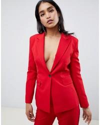 Blazer rouge ASOS DESIGN