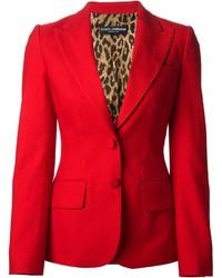 Blazer rouge Dolce & Gabbana