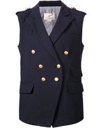 Blazer sans manches bleu marine Band Of Outsiders