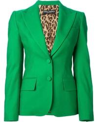 Blazer vert Dolce & Gabbana