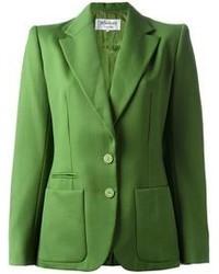 Blazer vert Yves Saint Laurent
