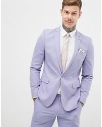 Blazer violet clair ASOS DESIGN