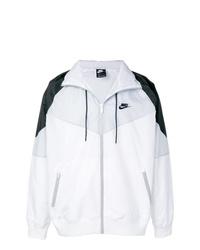 Blouson aviateur blanc et noir Nike