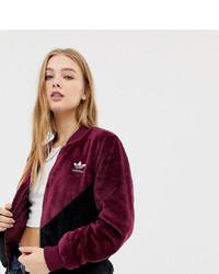Blouson aviateur bordeaux adidas Originals