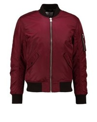 Blouson aviateur bordeaux Jack & Jones