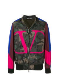 Blouson aviateur camouflage multicolore Valentino
