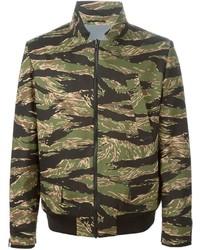 Blouson aviateur camouflage olive