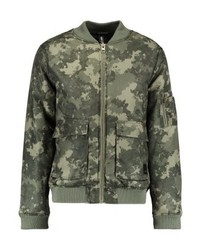 Blouson aviateur camouflage olive Brooklyn's Own by Rocawear