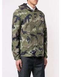 Blouson aviateur camouflage olive Valentino