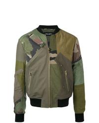 Blouson aviateur camouflage olive Dolce & Gabbana