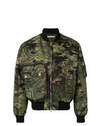 Blouson aviateur camouflage olive Givenchy
