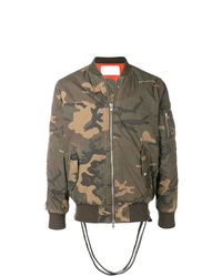 Blouson aviateur camouflage olive Stampd