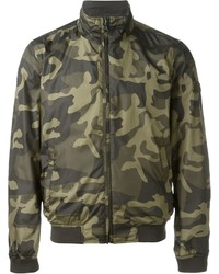 Blouson aviateur camouflage olive Woolrich