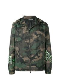 Blouson aviateur camouflage vert foncé Valentino
