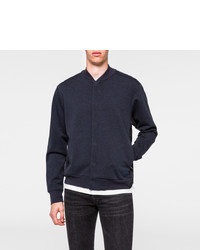Blouson aviateur en coton bleu marine Paul Smith