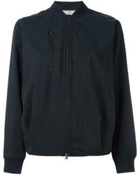 Blouson aviateur en coton noir adidas by Stella McCartney
