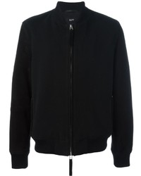 Blouson aviateur en cuir noir Blood Brother