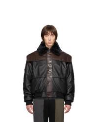 Blouson aviateur en cuir noir GR-Uniforma