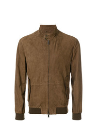 Blouson aviateur en daim marron Desa Collection
