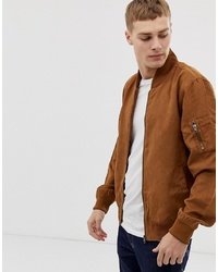 Blouson aviateur en daim tabac French Connection
