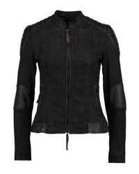 Blouson aviateur en denim noir Be Edgy