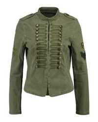 Blouson aviateur en denim olive Only