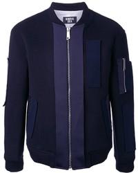 Blouson aviateur en laine bleu marine General Idea