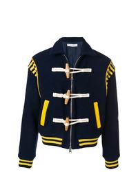 Blouson aviateur en laine bleu marine JW Anderson