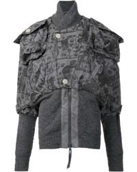 Blouson aviateur en laine gris Vivienne Westwood