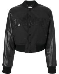 Blouson aviateur en laine noir Givenchy