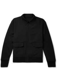 Blouson aviateur en laine noir The Row