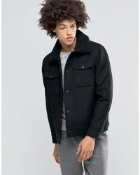 Blouson aviateur en laine noir Weekday