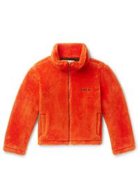 Blouson aviateur en polaire orange Ambush