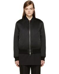 Blouson aviateur en satin noir Givenchy