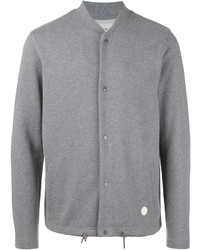 Blouson aviateur en tricot gris Folk