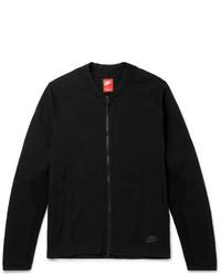 Blouson aviateur en tricot noir Nike