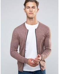Blouson aviateur en tricot rose Asos
