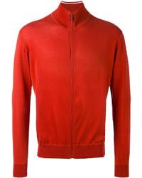 Blouson aviateur en tricot rouge Loro Piana
