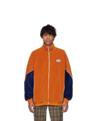 Blouson aviateur en velours orange Gucci