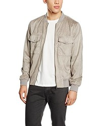 Blouson aviateur gris New Look